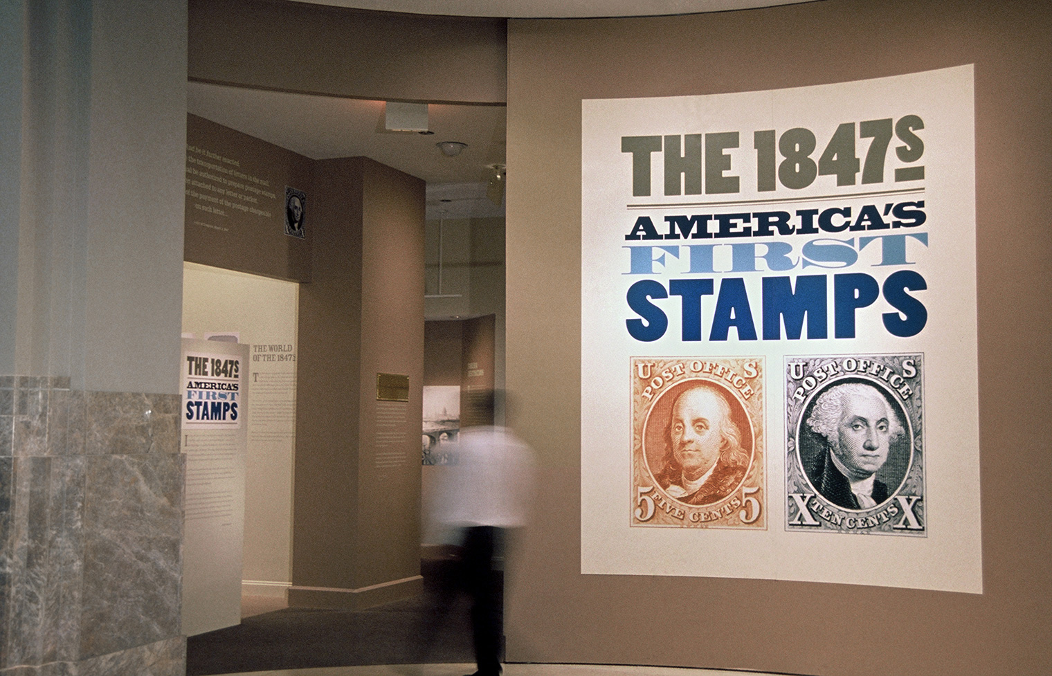 An exhibition presenting more than one hundred envelopes featuring the nation's first two postage stamps.
