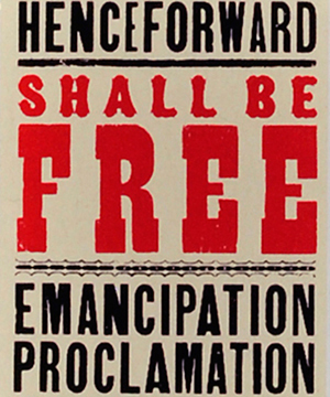 Thumbnail image of the Emancipation Proclamation stamp for the United States Postal Service