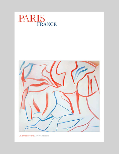Thumbnail image of the cover of the Paris catalogue for Art in Embassies.