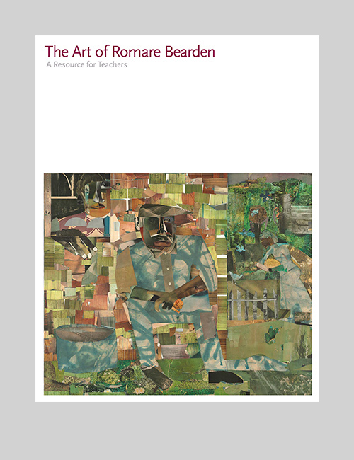 Thumbnail image of the Art of Romare Bearden catalogue for the National Gallery of Art.