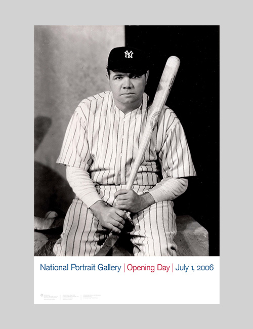 Thumbnail image of the Opening Day poster for the National Portrait Gallery.