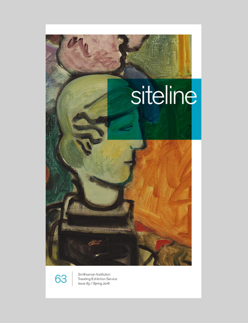 Thumbnail image of the Sitelines exhibition brochure for the Smithsonian Institution Traveling Exhibition Service.
