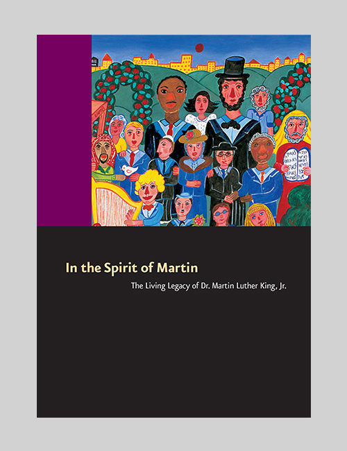 Thumbnail image of the In the Spirit of Martin: The Living Legacy of Dr. Martin Luther King, Jr. exhibition brochure for the Smithsonian Institution Traveling Exhibition Service.