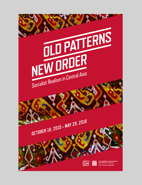 Thumbnail image of the exhibition identity for Old Patterns, New Order for the Textile Museum.