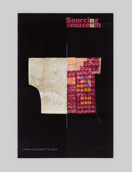 Thumbnail image of the exhibition identity for Sourcing the Museum for the Textile Museum.